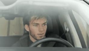 Pierre Gasly in de Honda e